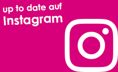 Banner pink: up to date auf Instagram