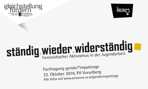 Deckblatt Flyer gender:impulstage 2019